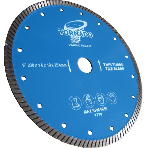 Thin Diamond Turbo Tile Blades
