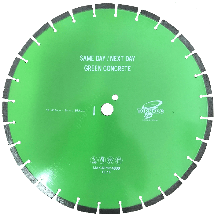 "16"" 4mm Early Entry/Green Concrete Diamond Trade Blade"
